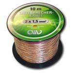 AIV Kupfer Lautsprecherkabel 2x 1,5 mm² - 10 m Lautsprecher Kabel Litze