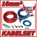 BULL AUDIO Kabelset - Anschluss-Set - Kabel für Endstufe/Verstärker - 16mm²