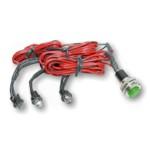 3 LED-Set grün Innenbeleuchtung - Leuchte/Lampe/Light/Spot/Strahler - 12 V