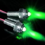 2 LED-Set Edelstahlschraube grün Innenbeleuchtung - Leuchte/Lampe/Spot - 12 V