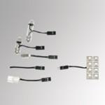 8 LED-Pad weiß Innenbeleuchtung - Leuchte/Lampe/Light/Spot/Strahler - 12 V