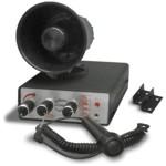 10-Klang-Sirene - Alarm+Tierlaute+Mikrofon - 2x 5-Sound Fanfare Signalhorn Hupe