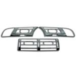Rahmen für Lüftungsgitter - BMW 5er E39 - Blende Lüftung - chrom - 3er Set