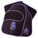 raid hp Fußmatten - BLUE DRAGON - schwarz/blau - 4-teilig Drache Autoteppich