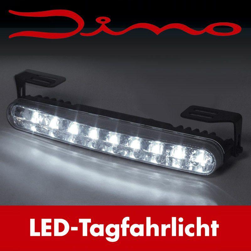 Dino Tagfahrlicht 2x 18 LED 182 x 24 mm 12//24 V Tagfahrleuchten TFL DRL
