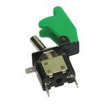 Kfz-Kippschalter - 12 V Kill Switch Schalter grün - mit grüner LED + Schutzkappe