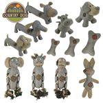 Country Dog Hundespielzeug - Leinen Kuscheltier Spielzeug mit Quitscher Seil