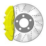 JOM Bremssattellack gelb - Bremssattel Lackier-Set Bremsscheibe Bremstrommel