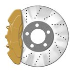 JOM Bremssattellack gold - Bremssattel Lackier-Set Bremsscheibe Bremstrommel