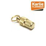 Karlie Adressanhänger gold für Hund & Katze Adresshülse Adresstube