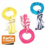 Karlie good4fun Ring mit Seil - Hundespiel Kauspielzeug Zerrspiel - Gummiring