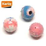 Karlie Gummiball mit Glocke - Hundespiel Noppenball Apportierspiel Spielzeug