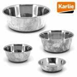 Edelstahl Napf SELECTA MARBLE - Futternapf Wassernapf Fressnapf für Hunde/Katzen