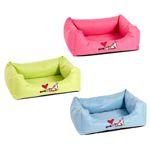 Karlie Hundebett MONTENEGRO - blau/grün/rosa - 4 Größen Schlafplatz Decke Kissen