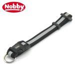 Nobby Halsband REFLEKTOR 30-50 cm / 20 mm breit - schwarz Nylon Hundehalsband