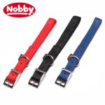 Nobby Halsband CLASSIC SOFT - 50/55/60/65/72 cm lang - Nylon Hundehalsband