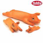 Nobby Hundespielzeug SCHWEIN - Latex Tierfigur - Spiel für Hund - quitscht