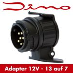 Dino Adapterstecker - 13 auf 7 polig - Anhängeradapter Kurzadapter - 12V