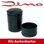 Dino KFZ Aschenbecher für Getränkehalter - schwarz 7 x 10 cm - Auto/Haus/Boot