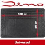 Dino universal Gummi-Kofferraummatte - 120 x 80 cm - schwarz - zuschneidbar