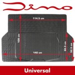 Dino universal Gummi-Kofferraummatte - 140 x 108 cm - schwarz - zuschneidbar