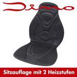 Dino Sitzheizung - beheizbare Sitzauflage - Heizkissen 2 Heizstufen 12 V schwarz