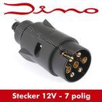 Dino Anhängerstecker 7 polig - schwarz - Stecker für Anhänger - 7 Kontakte