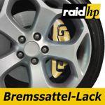 raid hp Bremssattellack gold met - 6-teiliges-Set Bremsscheibe Bremstrommel Lack