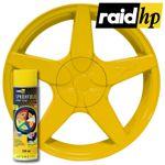 raid hp Sprühfolie gelb seidenglanz 500 ml - Felgenfolie Autofolie Lack glänzend