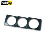 raid hp Instrumentenhalter DIN-Radioschacht - 3er Halterung - 52mm Instrument