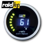 raid hp NIGHT FLIGHT DIGITAL BLUE - Auspuff/Abgastemperatur-Anzeige - Instrument